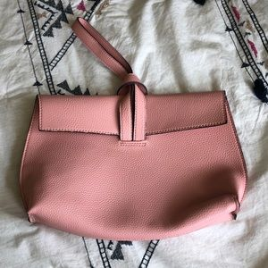 Free People pink clutch